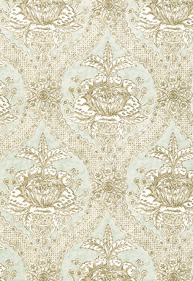 5004174 Haddon Hall Damask Mineral by FSchumacher