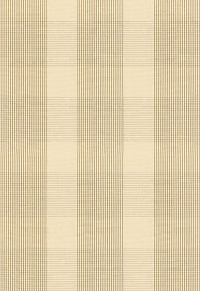 63021 Avon Gingham Plaid Flax, Ivory by FSchumacher