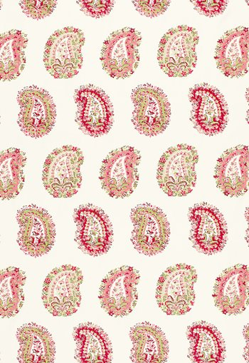 1329000 Arklow Paisley Pink + Green by FSchumacher