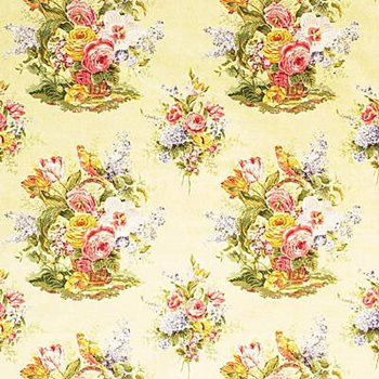 2003219.40 Bouquet Print Yellow by Lee Jofa