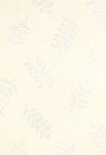 3466001 Dharma Fern Embroidery Ivory by F Schumacher