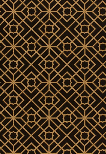 5000386 Lu'an Fretwork Black by F Schumacher