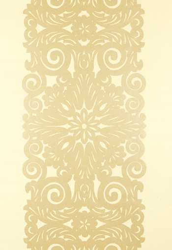 5003203 Graphic Panel Stripe Champagne Shimmer by FSchumacher