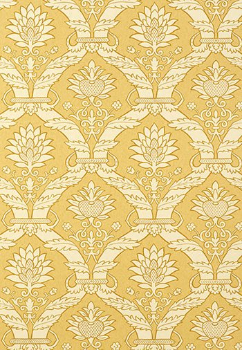 5003652 Siena Damask Yellow by FSchumacher