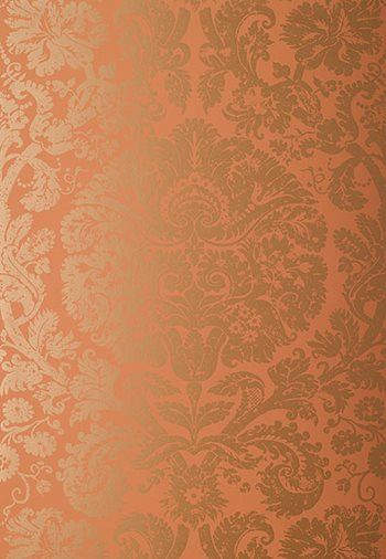 5003753 Barresa Damask Terracotta by FSchumacher
