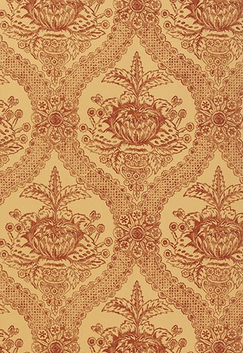 5004172 Haddon Hall Damask Russet by FSchumacher