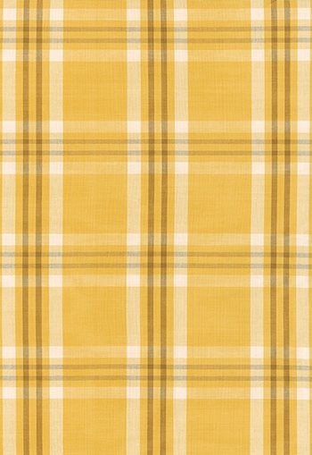 63012 Wilton Cotton Plaid Straw, Camel by FSchumacher