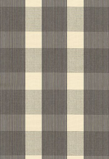 63025 Avon Gingham Plaid Black, Ivory by FSchumacher