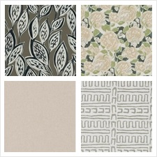 Robert Allen Fabric Book Oyster Chestnut Truffle