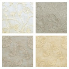 Duralee Fabric Collection Crawford Linen Embroideries