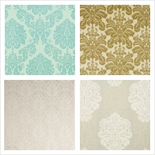 G P & J Baker Fabric Collection Simply Damask