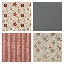 G P & J Baker Fabric Collection Langdale