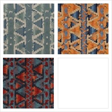 Beacon Hill Fabric Pattern Ziggurat