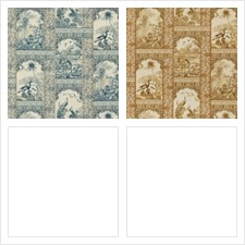 G P & J Baker Fabric Pattern Indienne Toile