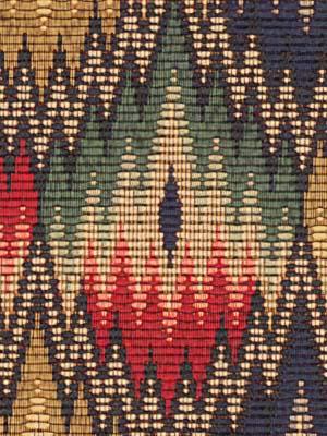 041433 Flame Stitch Navy By Robert Allen