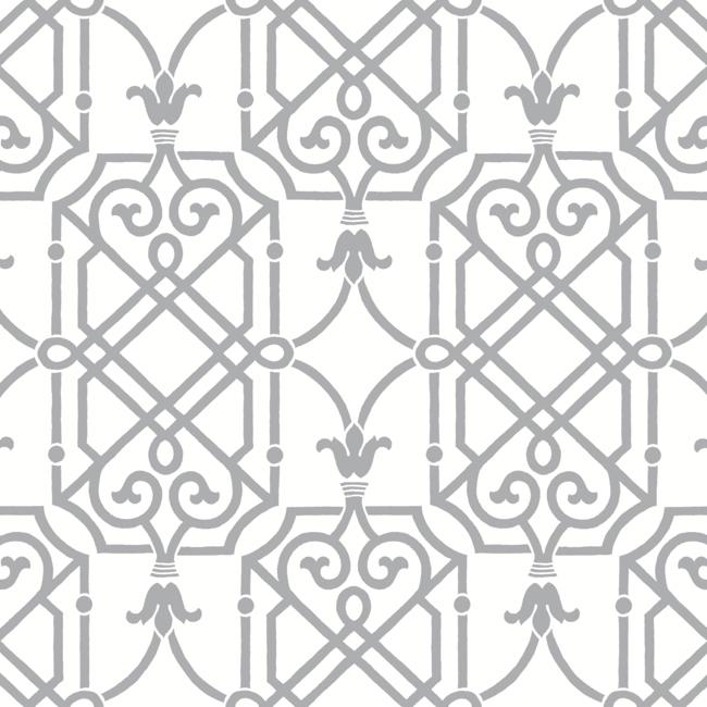 ab2146 black & white geometric lattice wallpaperyork