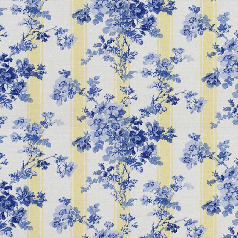 LCF23111F Burgess Park Floral Blue by Ralph Lauren