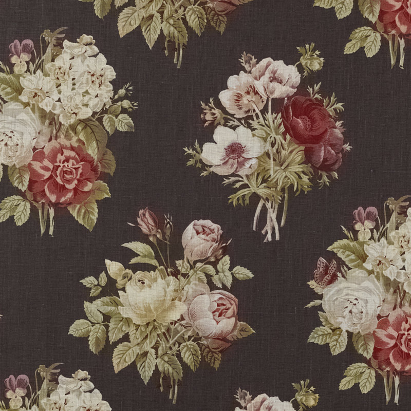 Poets Walk Floral Vintage Black By Ralph Lauren Fabric