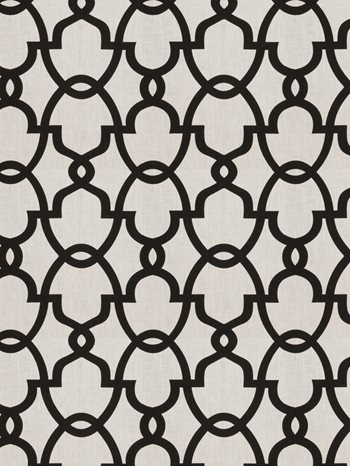 0156905 The Dance Black White by Fabricut