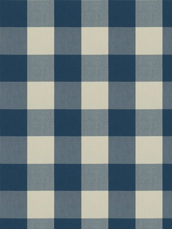 0277808 Camping Check Blue by Fabricut