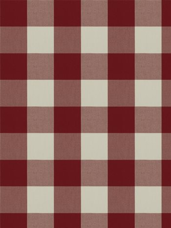 0277812 Camping Check Ruby by Fabricut