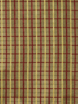 133214 Caroline Plaid Red Gold by Beacon Hill