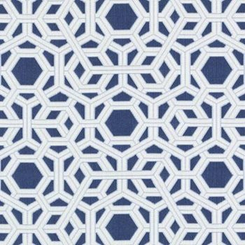 15689-206 Hexagon Navy by Duralee