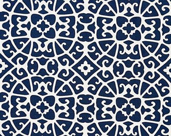 16559-005 Anshun Lattice Indigo by Scalamandre