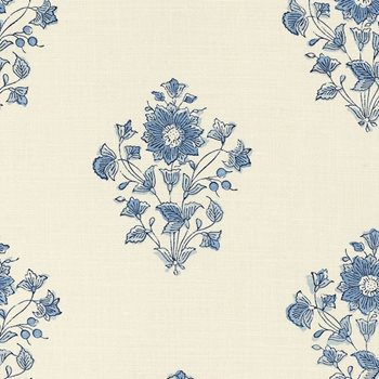 173762 Beatrice Bouquet Indigo by Schumacher