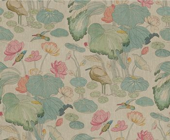 2016100.723 Nympheus Twill Pink/Teal by Lee Jofa