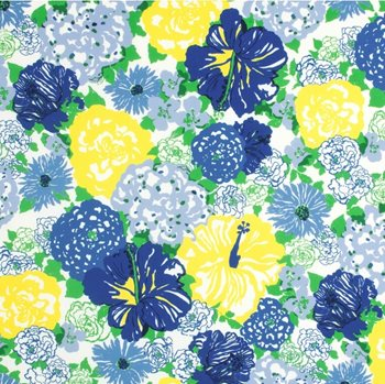 2016103.540 Heritage Floral Ii Blue/Yellow by Lee Jofa