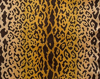 26168MM-001 Leopardo Ivory Gold & Black by Scalamandre