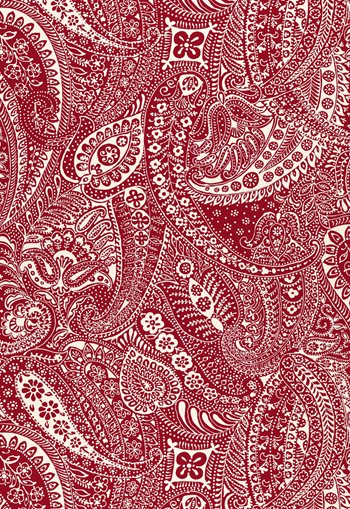 2644323 Paisley Print Red By Schumacher