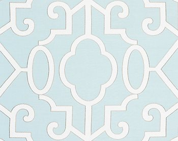 27012-004 Ming Fretwork Aquamarine by Scalamandre