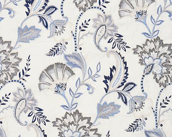 27036-001 Adara Embroidery Delft by Scalamandre