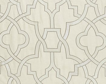 27073-001 Damascus Embroidery Alabaster by Scalamandre