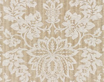 27136-002 Metalline Damask Flax by Scalamandre