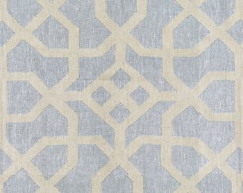 27149-004 Linen Lattice Bluestone & Fog by Scalamandre