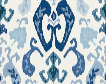 27172-002 Mandalay Ikat Embroidery Porcelain by Scalamandre