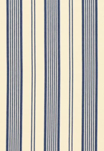 3468001 Barnes Ticking Stripe Blue By Schumacher