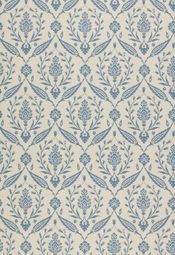 5000374 Dulan Damask Blue by F Schumacher