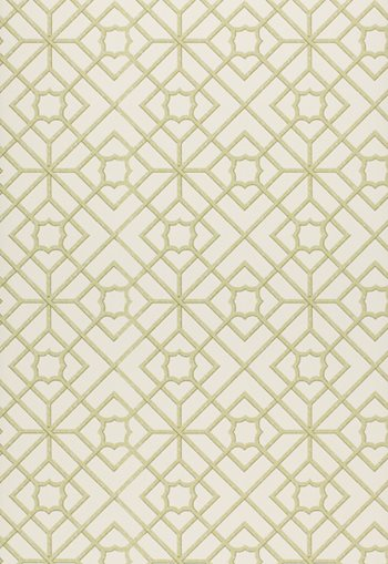 5000381 Lu'An Fretwork Lime by F Schumacher