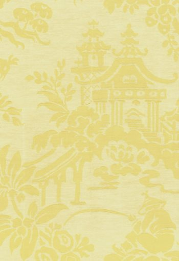51490 Brighton Silk Damask Cornsilk by F Schumacher
