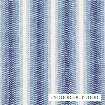 76660 Colada Stripe Blue by Schumacher