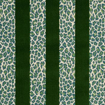 77141 Guepard Stripe Velvet Emerald by Schumacher