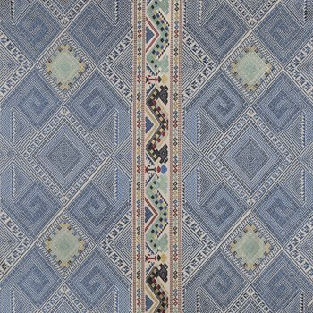 8015171.593 Covelong Emb Blue/Red/Sea by Brunschwig & Fils