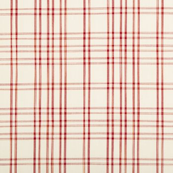 8017100.9 Banon Plaid Red by Brunschwig & Fils
