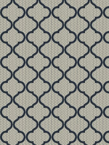 9428502 Magnetic Ogee Navy by Fabricut