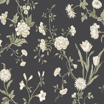 Ab2121 black white gracie floral wallpaper by york mightylinksfo
