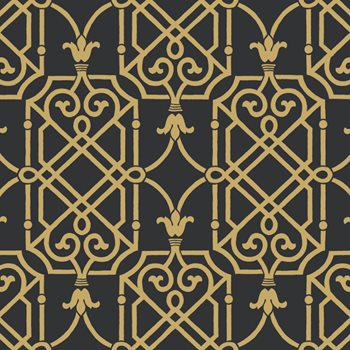 Ab2145 Black White Geometric Lattice Wallpaper By York